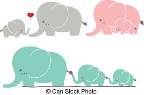Cute baby elephant clipart kid