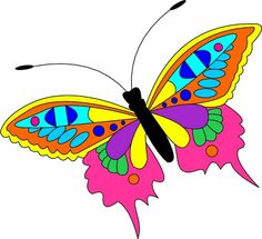 Cute cartoon insects and cartoon on clip art