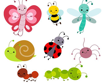 Cute insect clipart kid