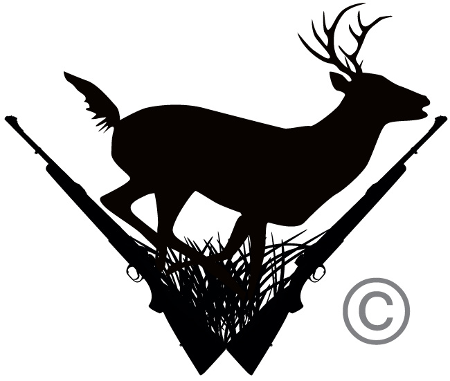 Deer hunting black clipart