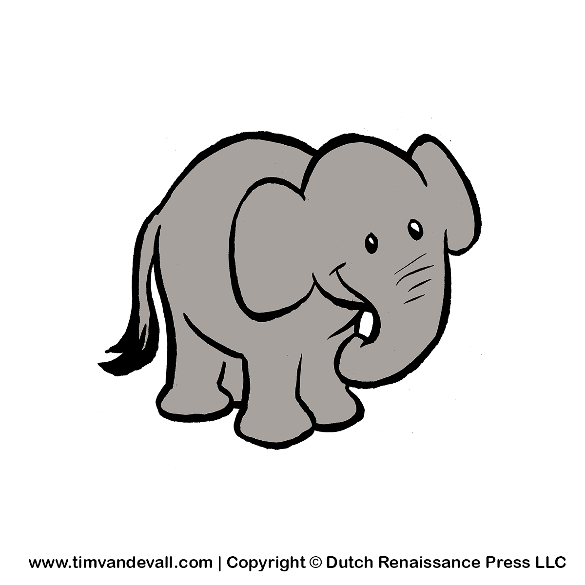 Free baby elephant clipart for kids printable animal clip art