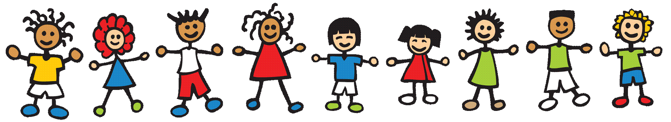 Happy children playing clipart