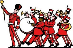 High school marching band clipart kid