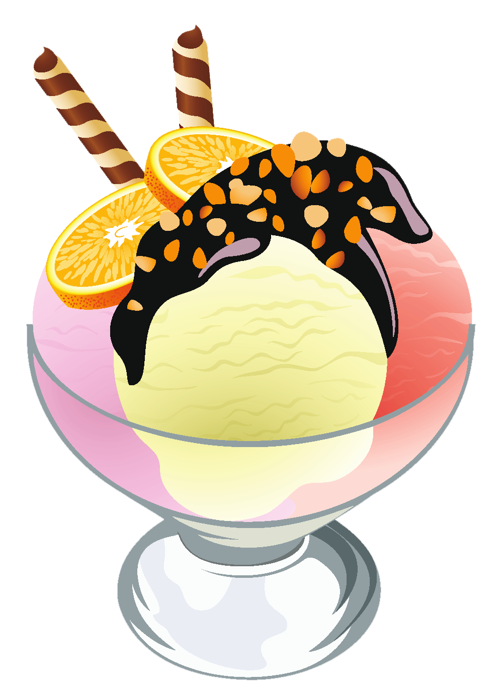 Ice cream sundae transparent picture 5 cliparts