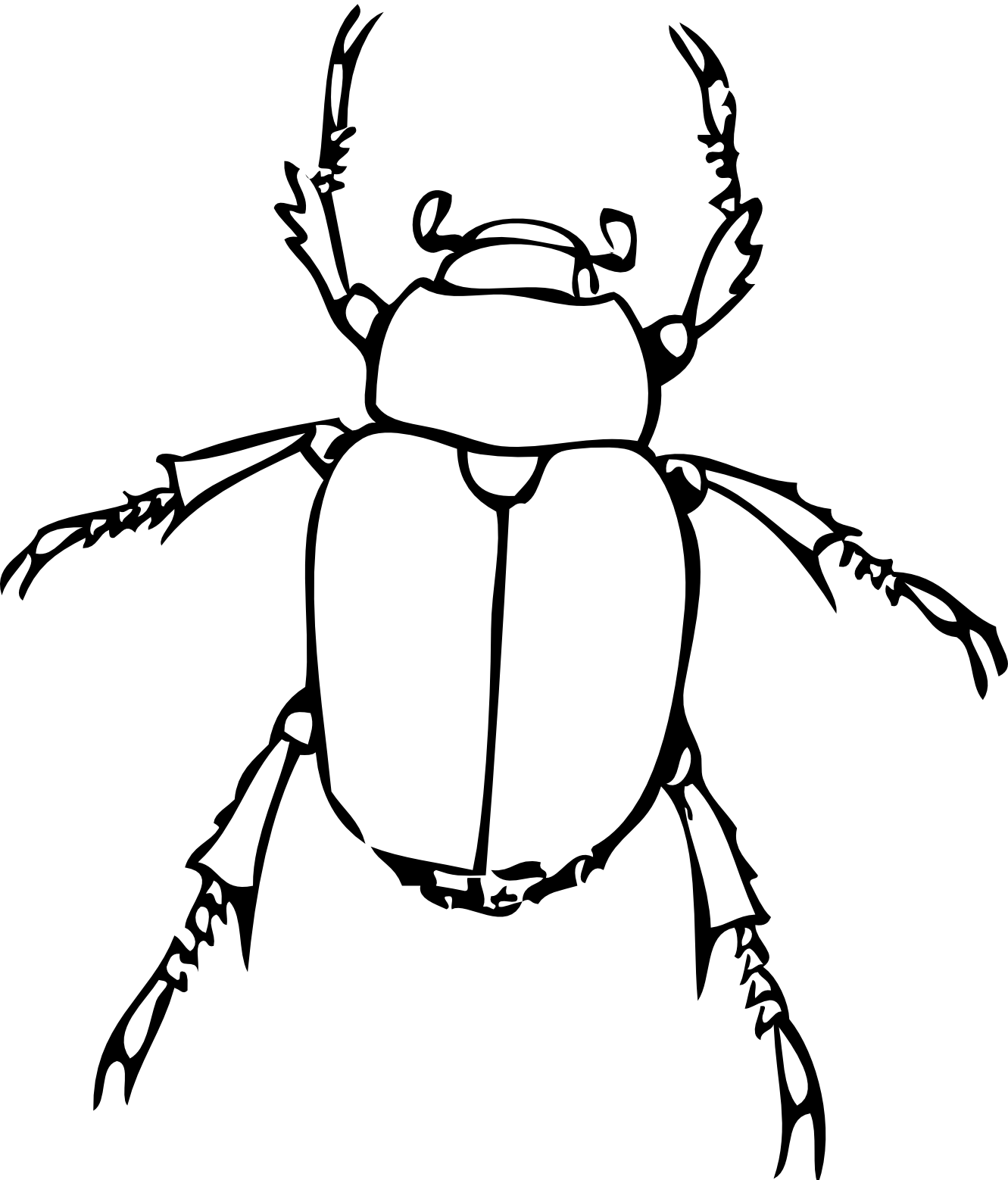 Insect clipart black and white free images 3
