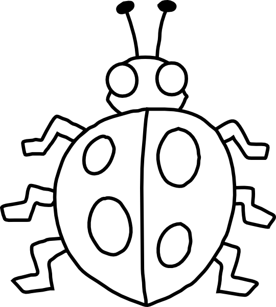 Insect clipart black and white free images 5