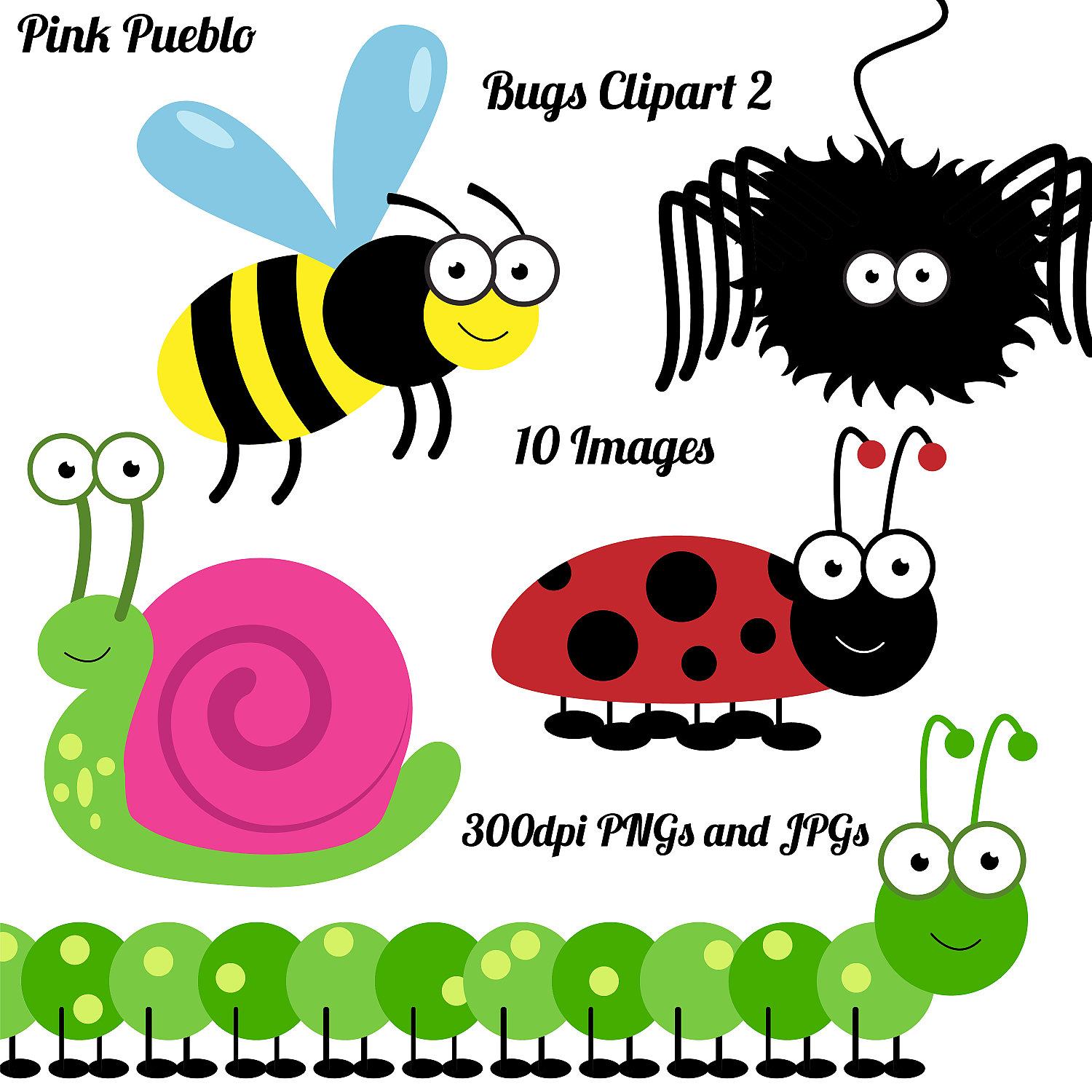 Insects clip art and cricket on