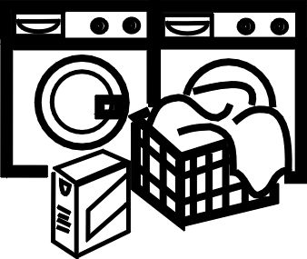 Laundry basket clip art black and white washing machine laundry
