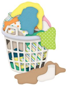 Laundry feathers album and cleanses on clipart