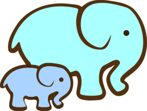 Mommy and baby elephant clipart kid 3