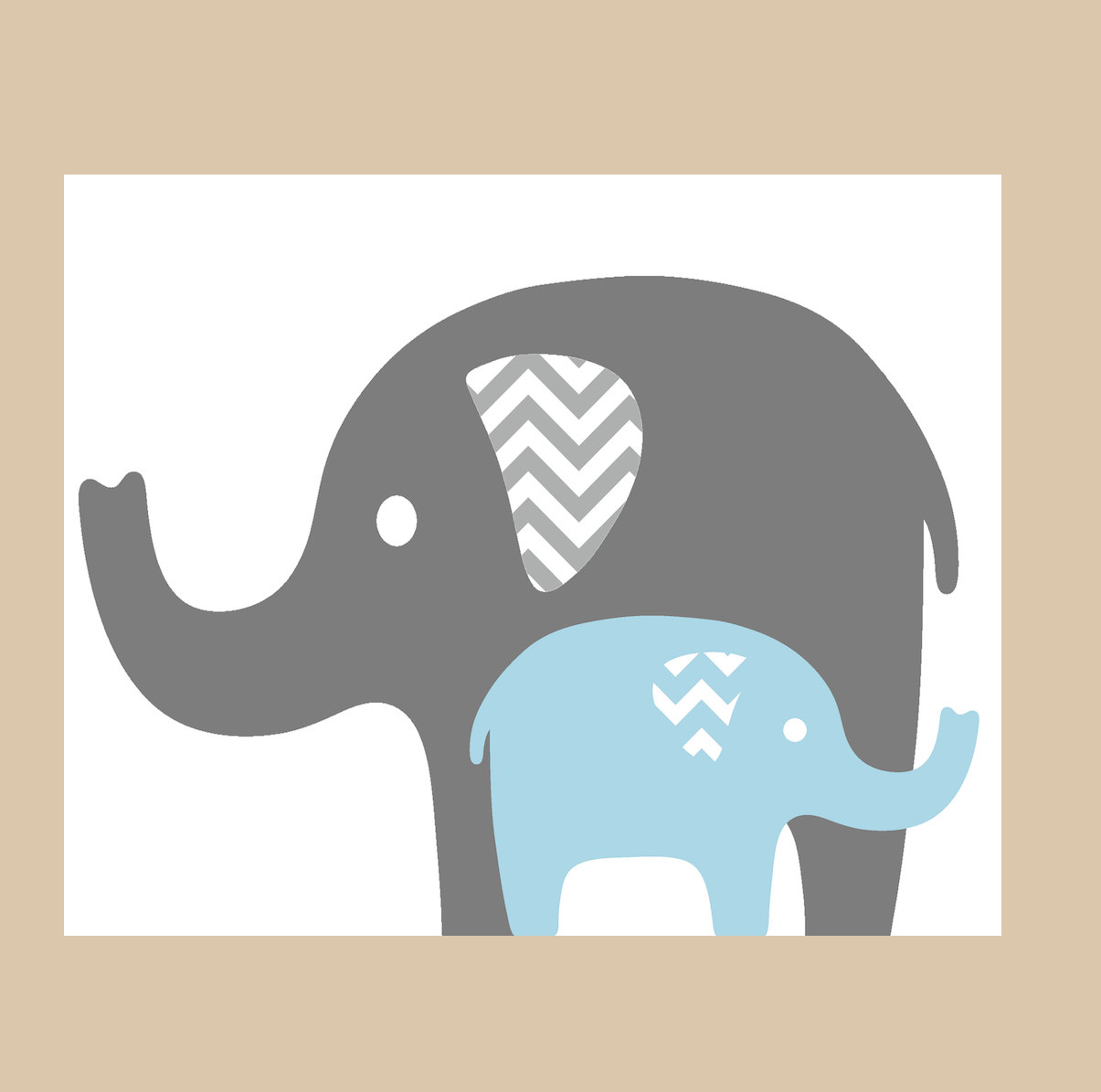 Mommy and baby elephant clipart kid