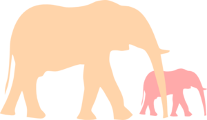 Mother and baby elephant clip art at vector clip art