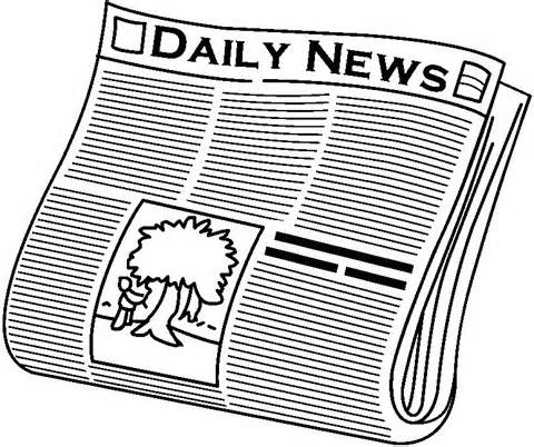Newspaper news clipart kid