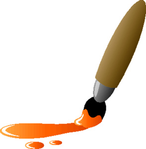 Orange paint clipart kid