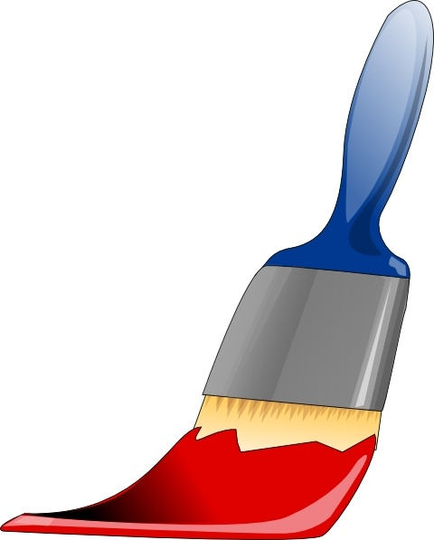 Paint brush clip art free vector in open office drawing svg 2
