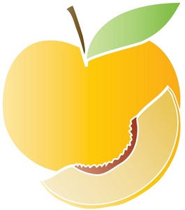 Peach free to use clipart image 2