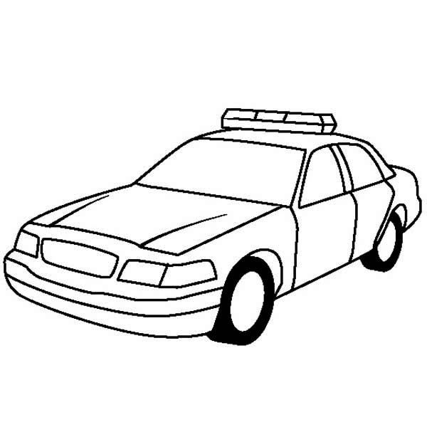 Police car car coloring page clipart kid