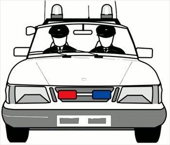 Police car clip art 3