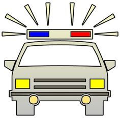 Police cars car sketch and on clip art