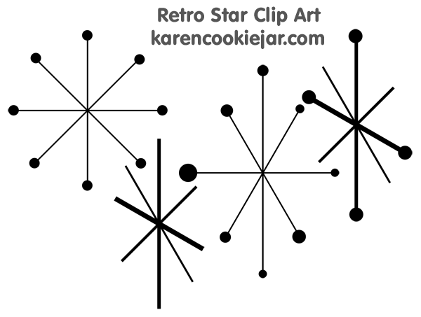Retro star clipart kid 3