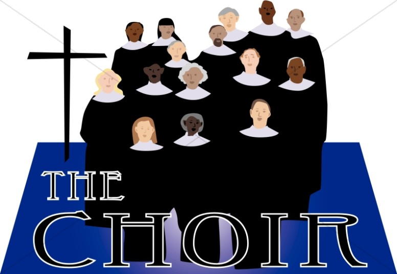 The choir clipart church word art