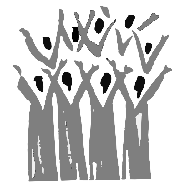 Women choir singing clipart kid
