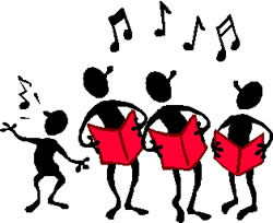 Youth choir clipart kid