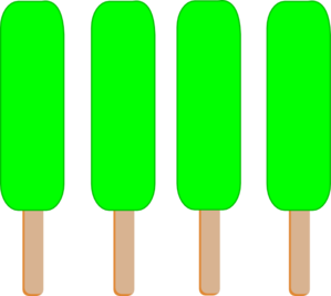 4 green single popsicle clip art at vector clip art
