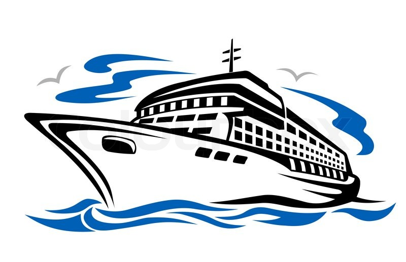 Awesome cruise ship clipart 2