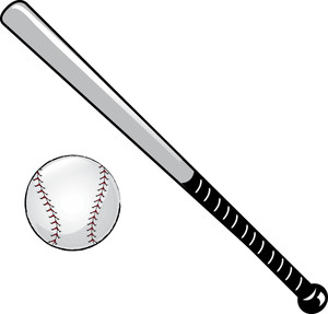 Baseball bat and ball clipart free images
