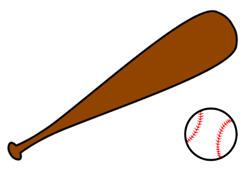 Baseball bat clipart 2