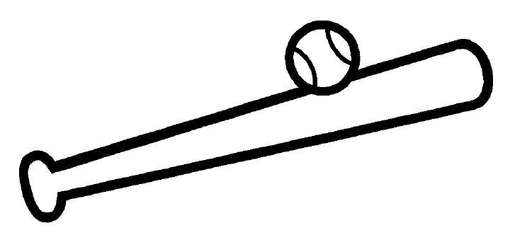 Baseball bat drawings clipart