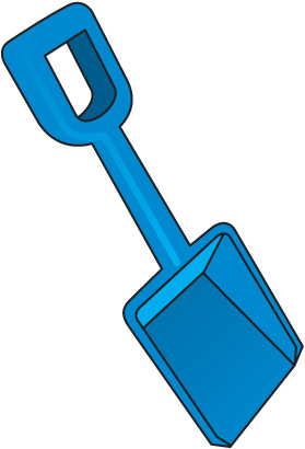Beach shovel clipart