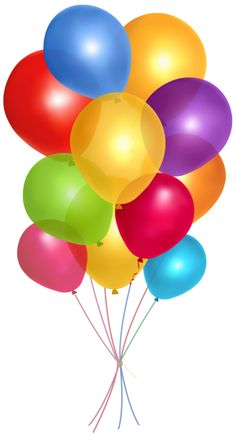 Birthday balloons balloons clip art and silver on 2