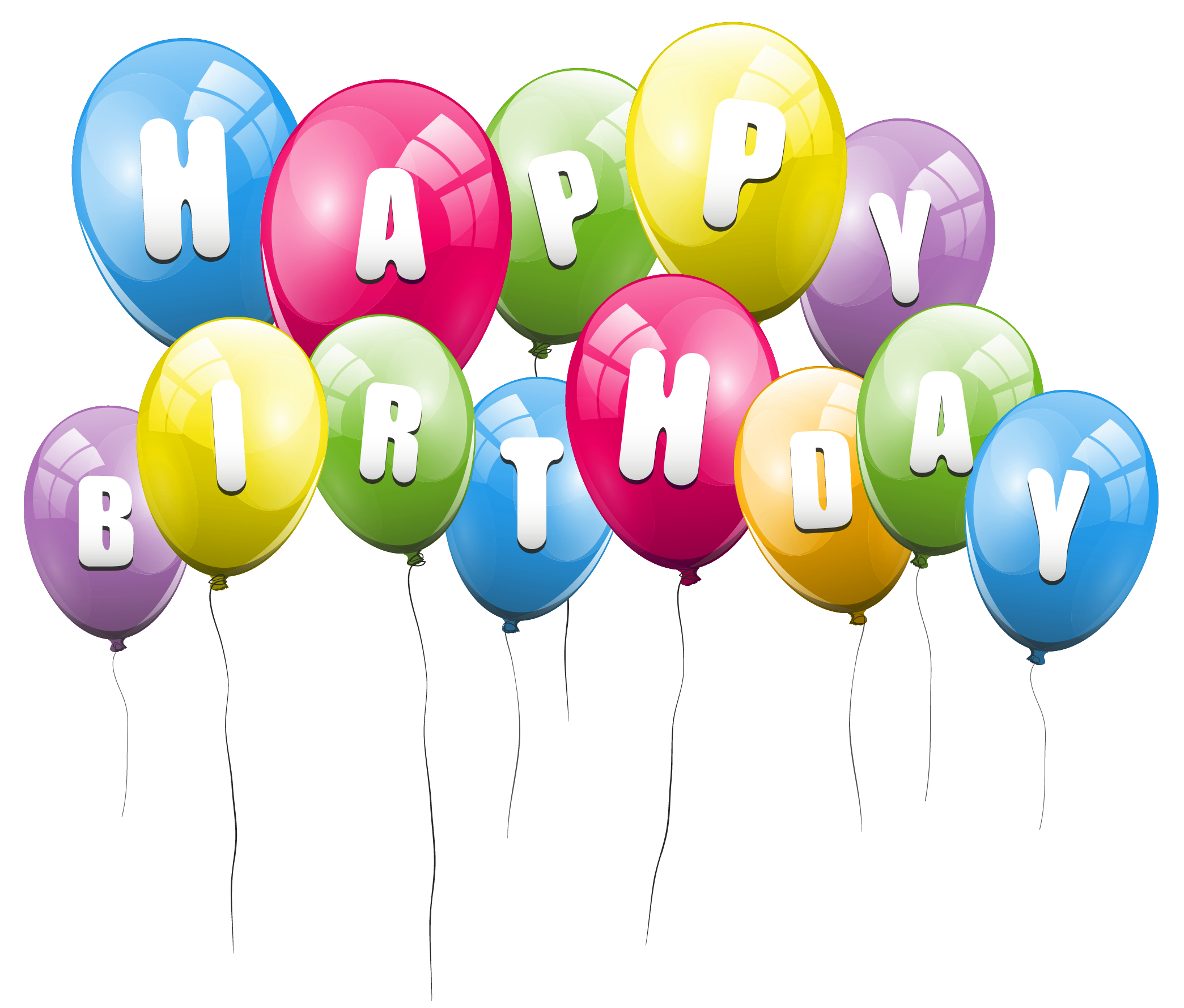 Birthday balloons birthday cake and balloons clipart