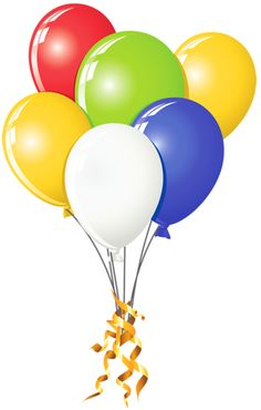 Birthday balloons birthday on balloons clip art and happy birthday