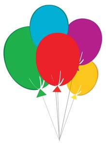 Birthday balloons clip art balloons to download