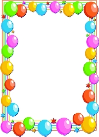 Birthday balloons clipart cards invitations party ideas