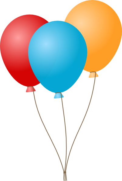 Birthday balloons clipart craft projects 3