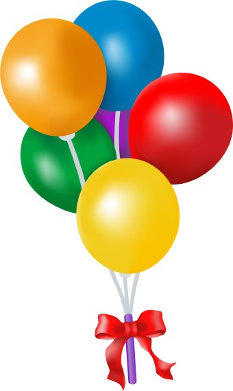 Birthday balloons free birthday balloon clip art clipart images 4