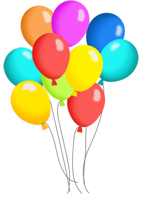Birthday balloons free birthday balloon clip art clipart images 6