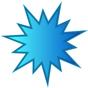 Blue starburst clipart kid 2