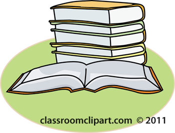 Book clipart stack of books