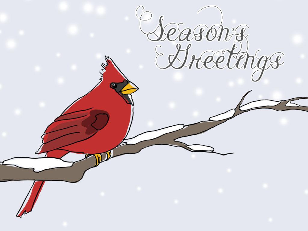 Christmas cardinal clipart kid