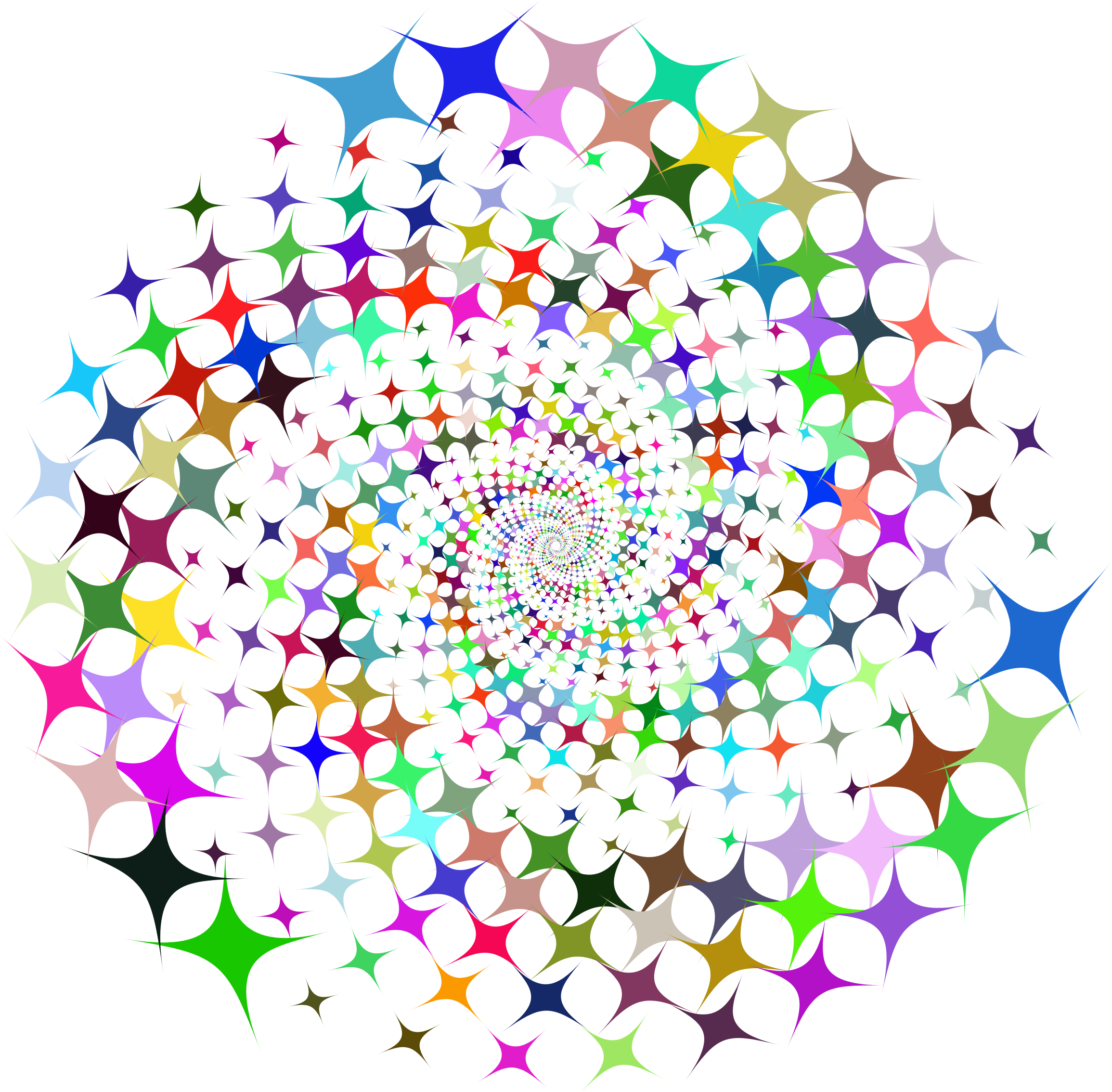 Clipart prismatic starburst vortex