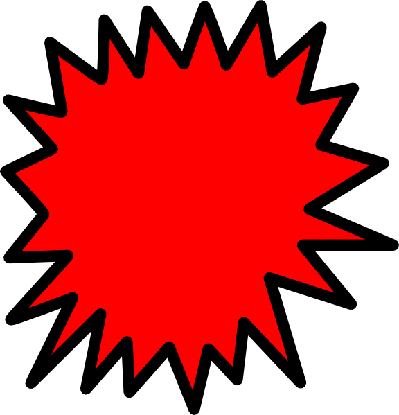 Cliparts red starburst clipart kid 6