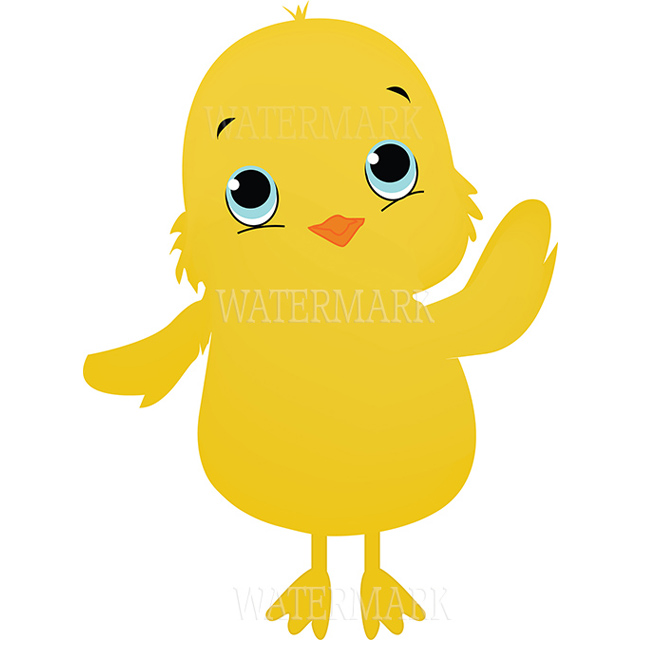 Cute graphic chicks clipart