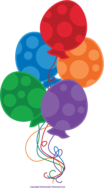 Free birthday balloons clipart