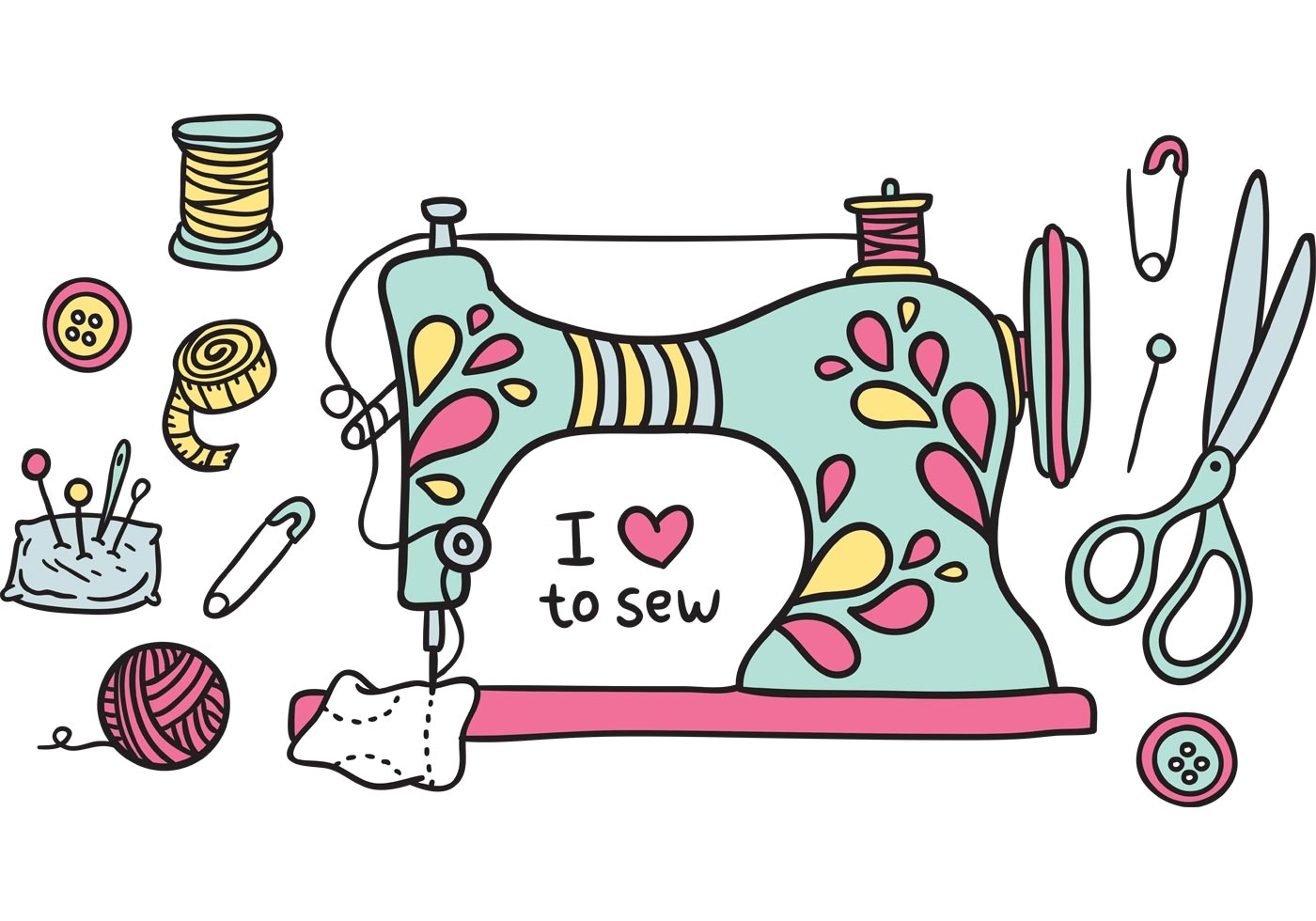 Free clipart sewing machine