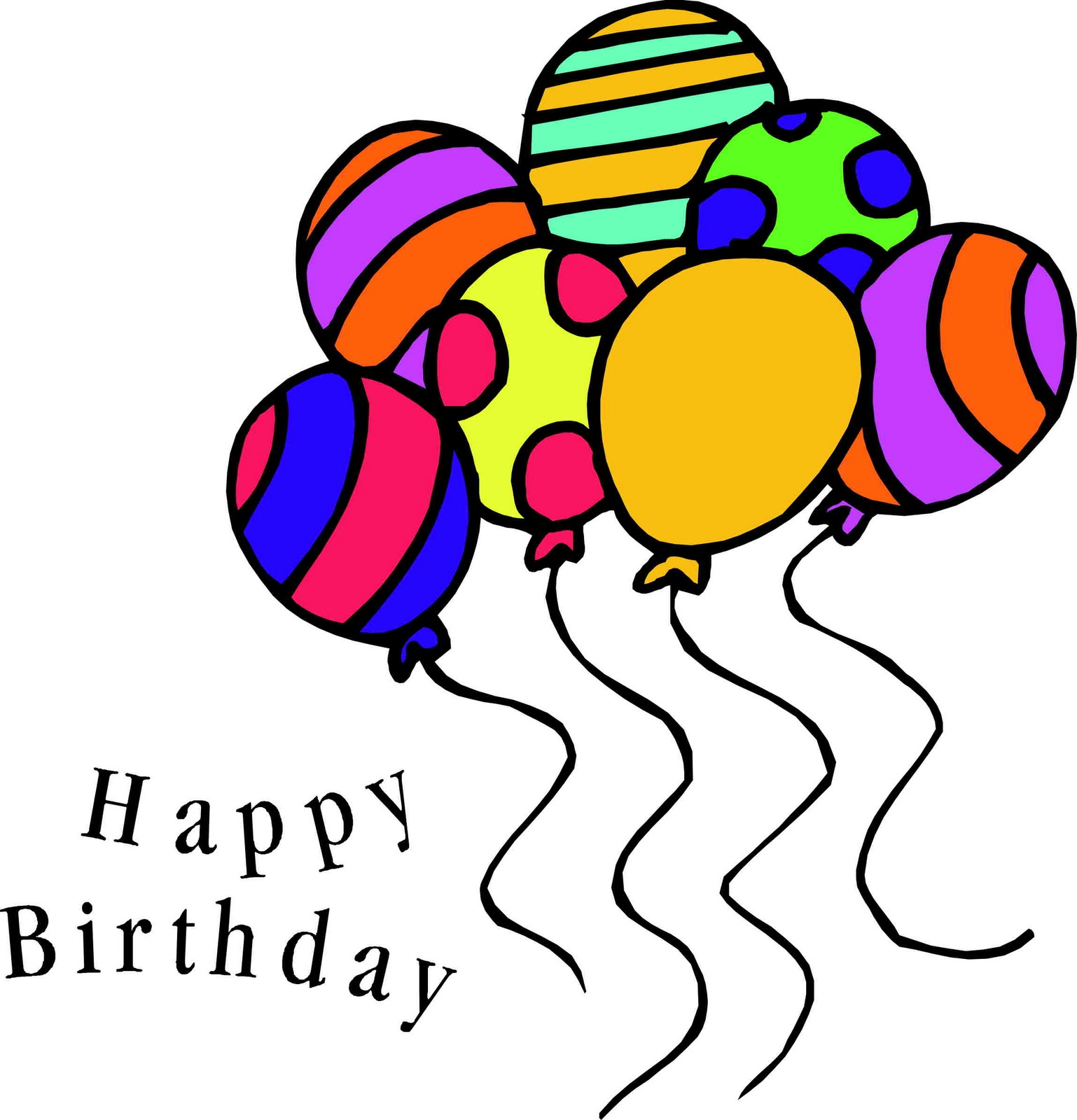 Happy birthday balloons clipart 2